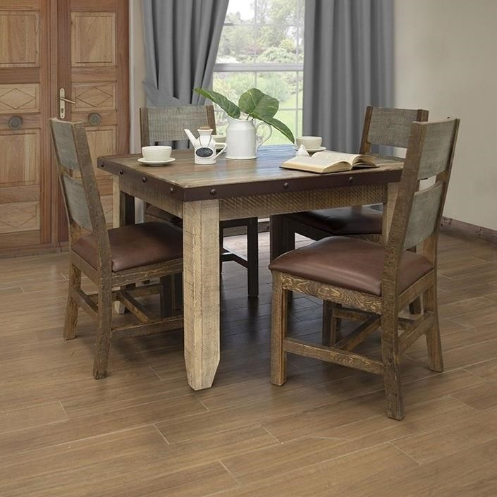 Antique 5-Piece Table and Chair Set by International Furniture Direct at Catalog Outlet