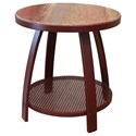 International Furniture Direct Antique Iron End Table w/1 Iron Shelf - Item Number: IFD979END