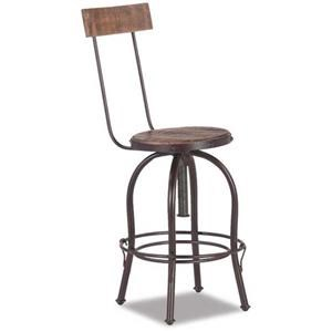 International Furniture Direct ANTIQUE MULTICOLOR Swivel Barstool