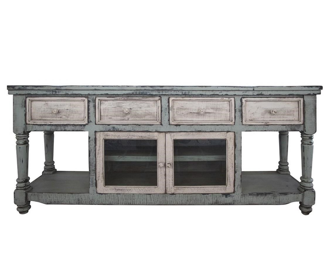 "Aruba 70"" TV Stand with 4 Drawers and 2 Doors by International Furniture Direct at Zak's Home"