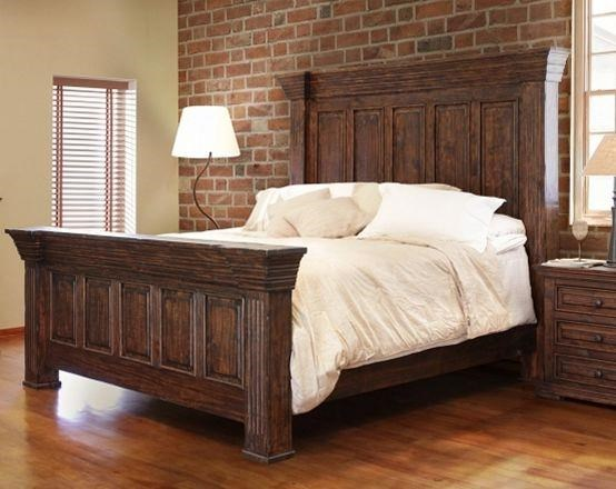 International Furniture Direct TERRA BROWN Queen Panel Bed   Item Number:  IFD 1020 QN Bed