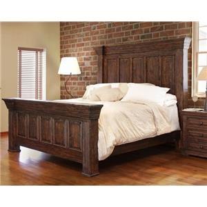 International Furniture Direct TERRA BROWN King Panel Bed