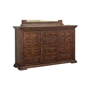International Furniture Direct TERRA BROWN Dresser