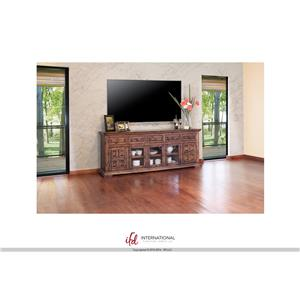 "International Furniture Direct Terra 83"" TV Stand"