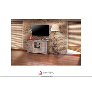 "International Furniture Direct Terra 55"" Linen TV Stand"