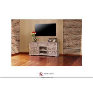 """International Furniture Direct Terra 72"""" Linen TV Stand"""