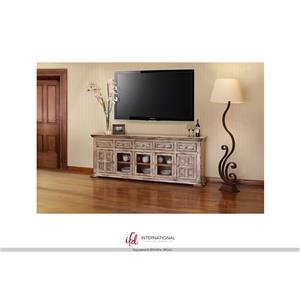 "International Furniture Direct Terra 83"" Linen TV Stand"