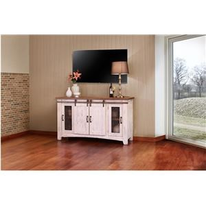 "International Furniture Direct Pueblo 60"" White TV Console"