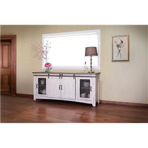 "International Furniture Direct Pueblo 80"" White TV Console"