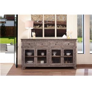 International Furniture Direct San Angelo Rustic Solid Wood Console