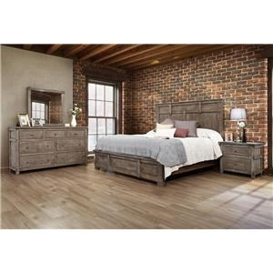 International Furniture Direct San Angelo King Bedroom Group