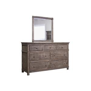 International Furniture Direct San Angelo Dresser & Mirror