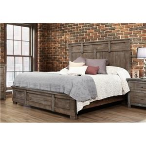 International Furniture Direct San Angelo Queen Panel Bed