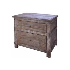 International Furniture Direct San Angelo Nightstand with Two Drawers
