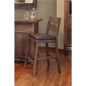 "International Furniture Direct Urban Gold 30"" Wooden Barstool"