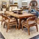 International Furniture Direct Parota Table with 6 Chairs - Item Number: GRP-PAROTA-TBL6