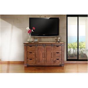 "International Furniture Direct Parota 60"" TV Stand"