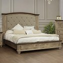 International Furniture Direct Laguna Queen Upholstered Bed - Item Number: IFD9681HBDQE+PLTQE