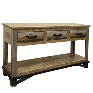 Sofa Table with 3 Drawers