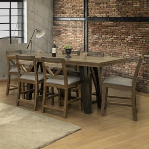 Counter Height 7-Piece Table and Chair Set