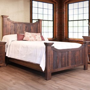 Rustic King Panel Bed