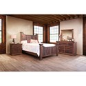 International Furniture Direct Madeira Rustic King Panel Bed