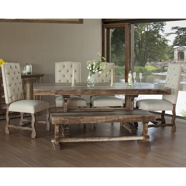 If Marquez Dining Set With Bench And Upholstered Chairs Lindy S Furniture Company Table Chair Set With Bench
