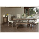 International Furniture Direct Marquez Dining Table with Trestle Base