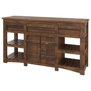 International Furniture Direct Mezcal Rustic Solid Wood 60