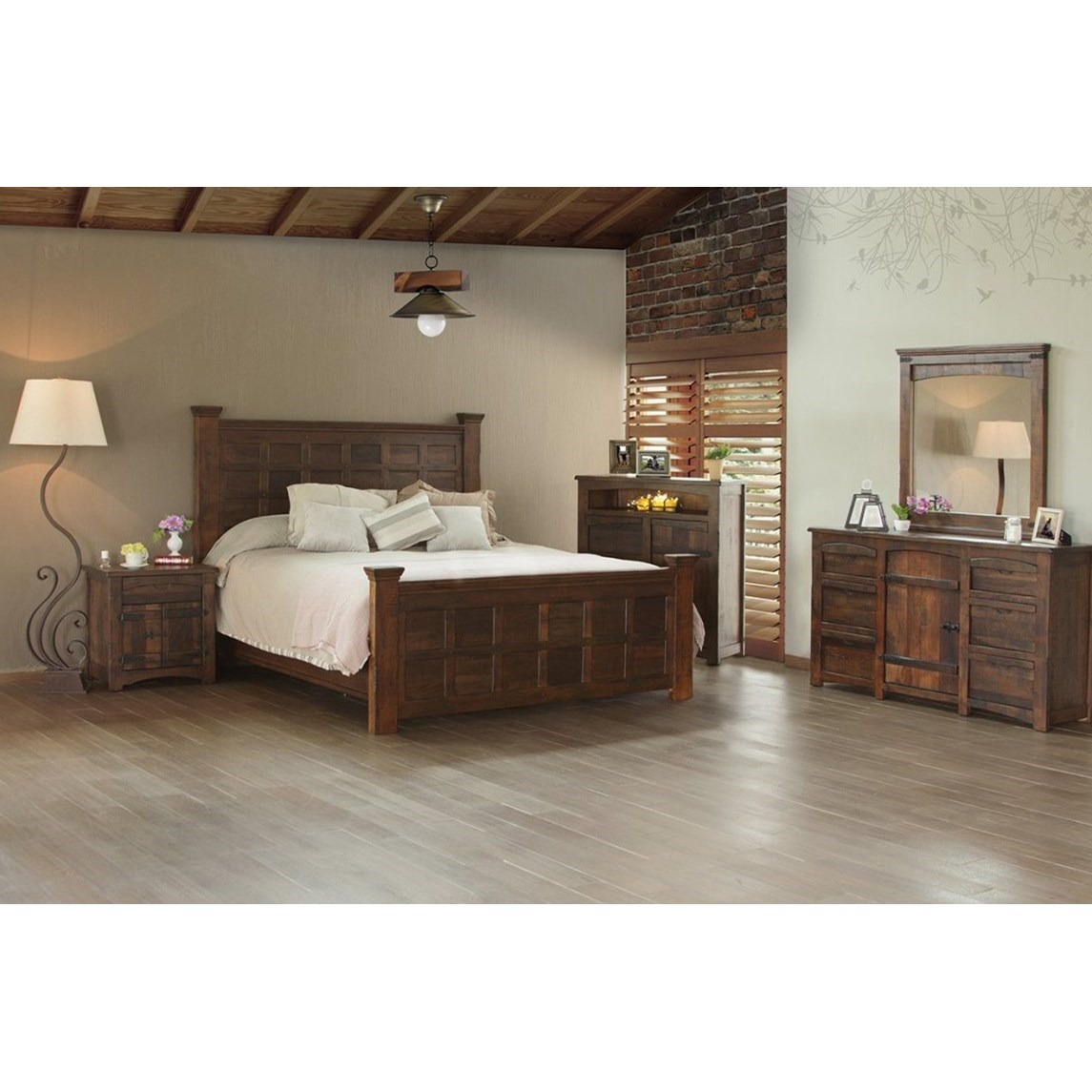International Furniture Direct Mezcal Rustic Great Chest
