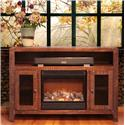 International Furniture Direct Monte Carlo Fireplace TV Stand - Item Number: IFD967FIREP