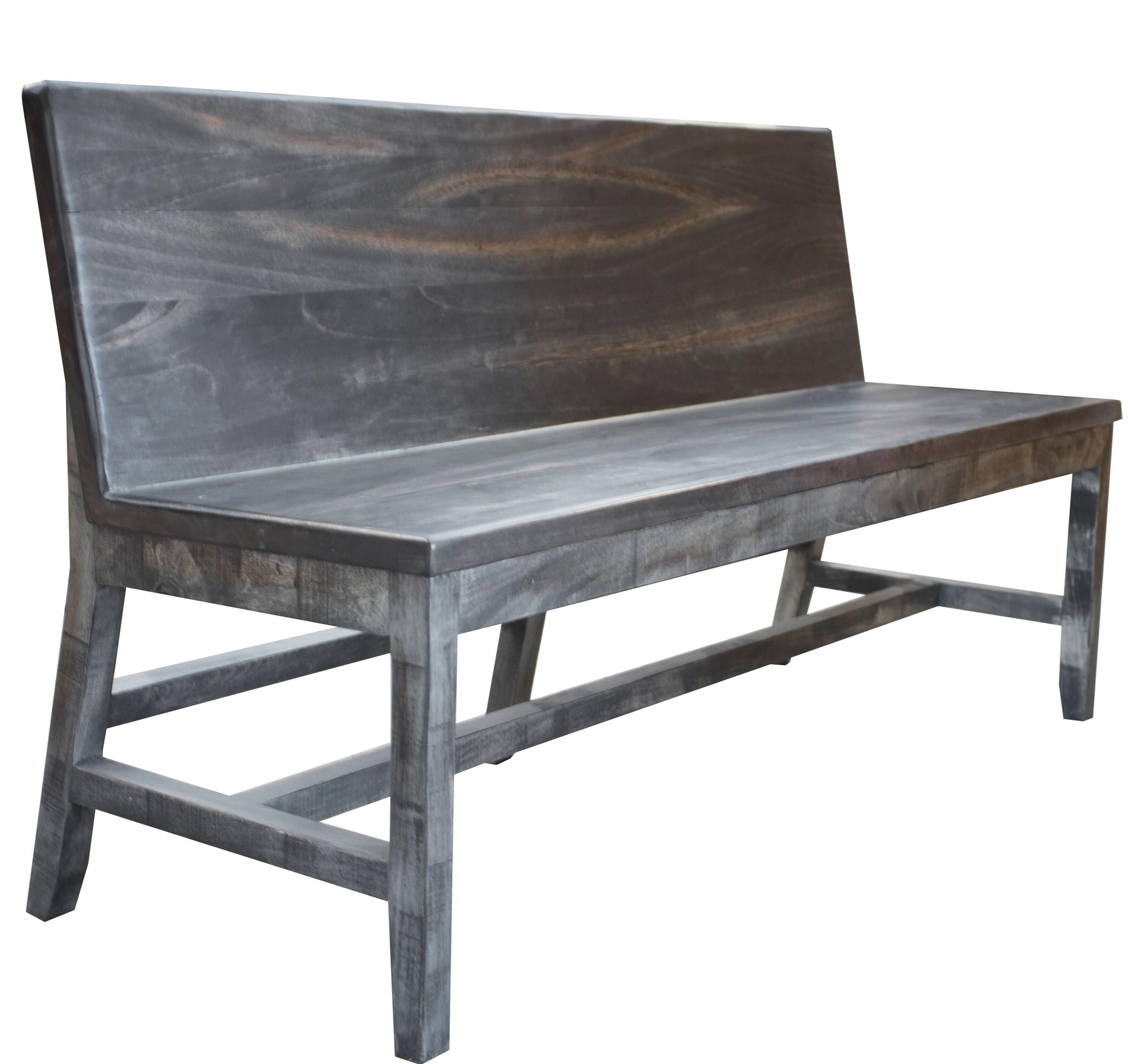 Phenomenal Moro Solid Wood Bench With Back Rest Alphanode Cool Chair Designs And Ideas Alphanodeonline