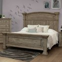 International Furniture Direct Palace Queen Panel Bed - Item Number: IFD7301HBDQE+RLSQE+FTBQE