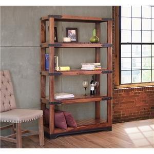 "International Furniture Direct Parota 70"" Bookcase"