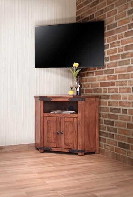 International Furniture Direct Parota 2 Door Corner TV Stand   Item Number:  IFD866CORN