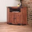 International Furniture Direct Parota 2 Door Corner TV Stand - Item Number: IFD866CORN