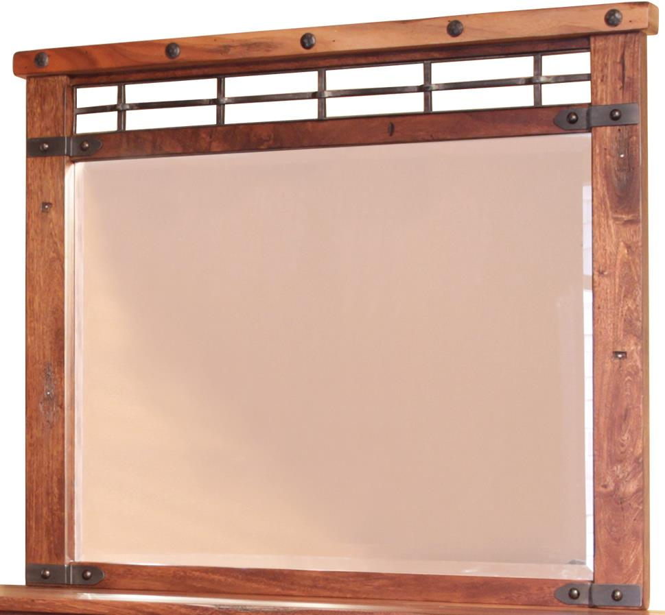 International Furniture Direct Parota Mirror - Item Number: IFD866MIRR