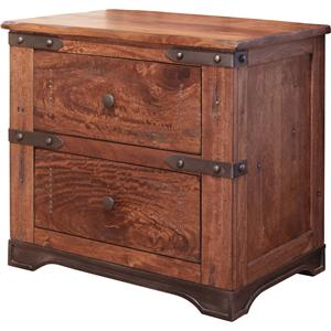 International Furniture Direct Parota 2 Drawer Nightstand