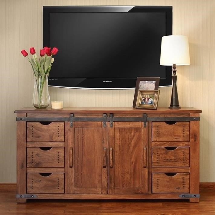 """Parota 70"""" TV Stand by International Furniture Direct at Dinette Depot"""