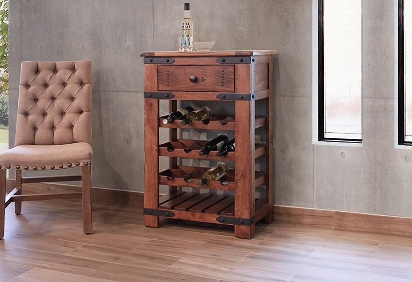 International Furniture Direct Parota Ifd866wine Wine Rack