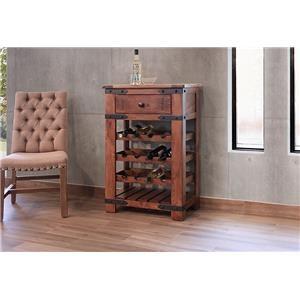 International Furniture Direct Parota Wine Rack