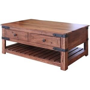 International Furniture Direct Parota 4 Drawer Cocktail Table