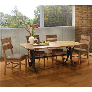 International Furniture Direct Parota 5 Piece Dining Set