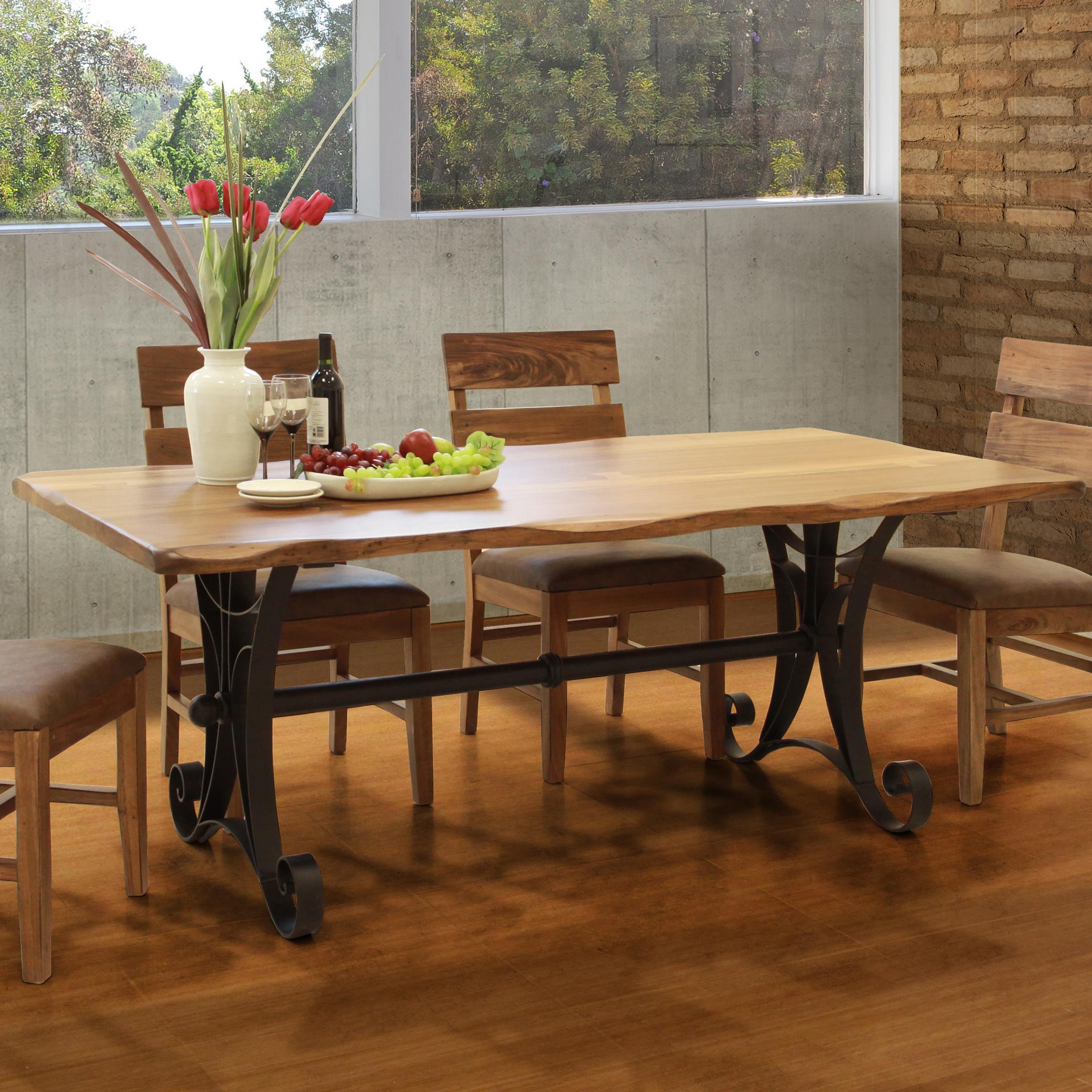 Kitchen Furniture Direct International Furniture Direct Parota Rectangular Dining Table