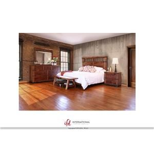 International Furniture Direct Parota Queen Bed