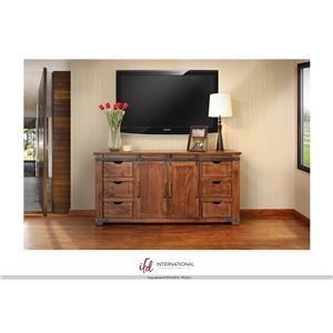 "International Furniture Direct Parota 70"" TV Stand"