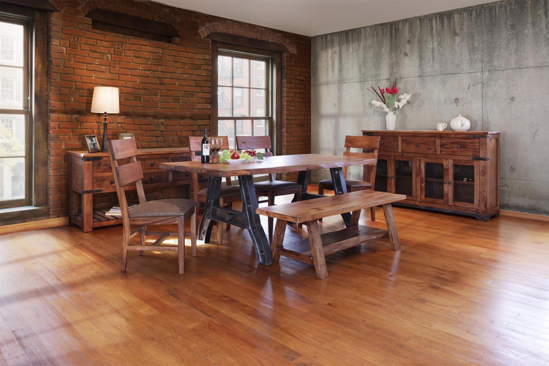 International Furniture Direct Parota 6 Piece Dining Set with