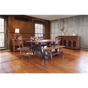 International Furniture Direct Parota 6 Piece Dining Set