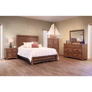 International Furniture Direct Porto King Bedroom Group