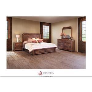 International Furniture Direct Regal King Storage Bed